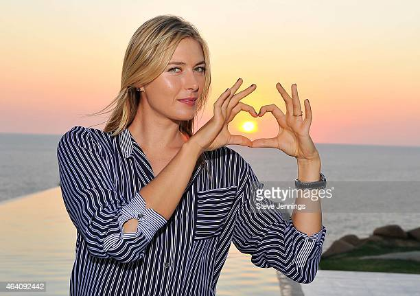 Maria Sharapova enjoys her free time in Acapulco while in town for the Abierto Mexicano Telcel Tennis Tournament on February 21, 2015 in Acapulco,...