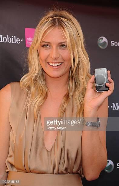 Maria Sharapova hosts the launch of the Sony Ericsson Equinox Phone at the TMobile Store on October 31 2009 in Canoga Park California