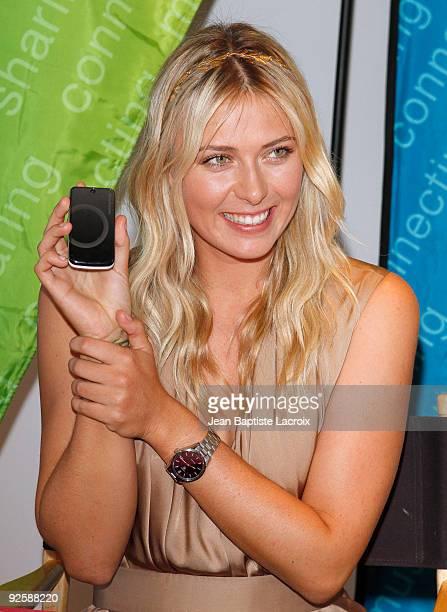 Maria Sharapova hosts the launch of the Sony Ericsson Equinox Phone on October 31 2009 in Los Angeles California