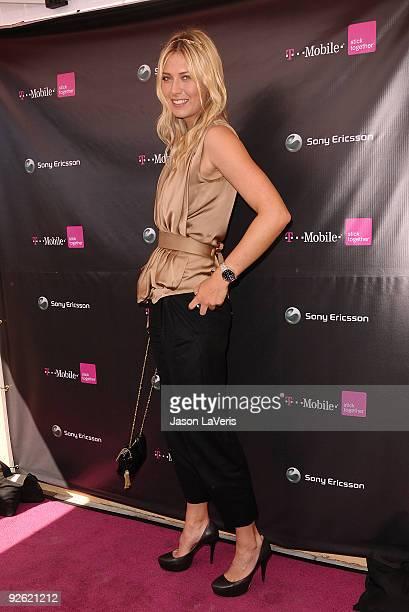 Maria Sharapova hosts the launch of the Sony Ericsson Equinox phone on October 31 2009 in Canoga Park California