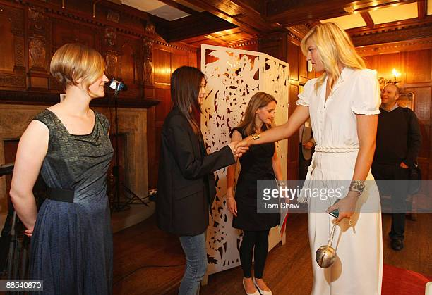 Maria Sharapova international tennis star and global brand ambassador for Sony Ericsson meets with one of the winning students of London College of...