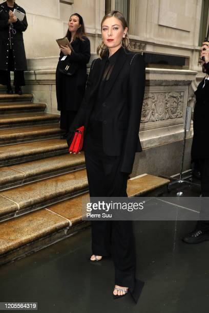 Maria Sharapova is seen arriving at the Vera Wang show during New York Fashion Week on February 11 2020 in New York City