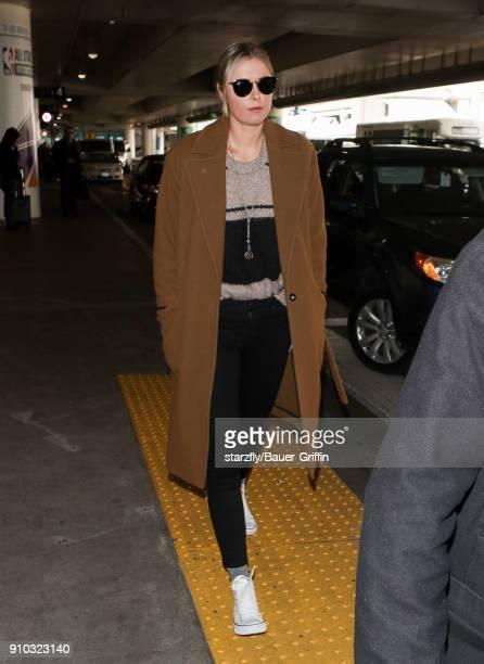 Maria Sharapova is seen at LAX on January 25 2018 in Los Angeles California