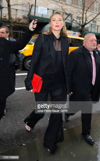 Maria Sharapova is seen on February 11 2020 in New York City