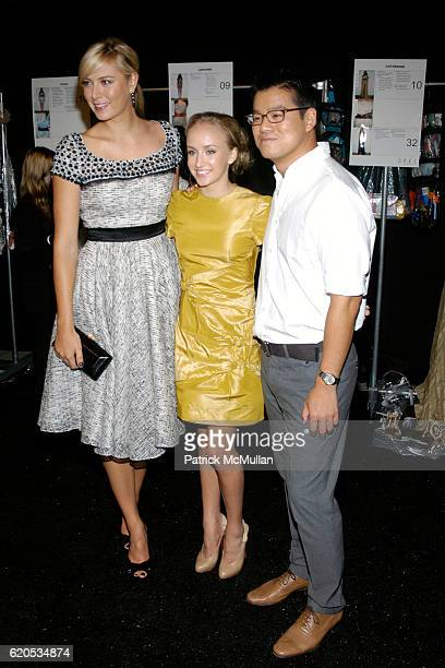 Maria Sharapova Nastia Liukin and Peter Som attend Peter Som Spring 2009 Fashion Show at Promenade on September 8 2008 in New York City