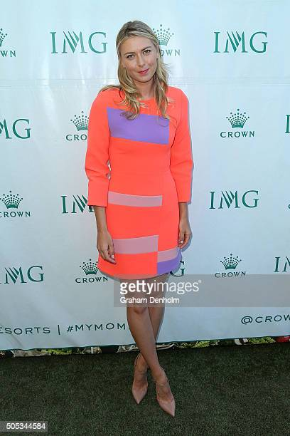 Maria Sharapova of Russia arrives at the 2016 Australian Open party at Crown Entertainment Complex on January 17 2016 in Melbourne Australia