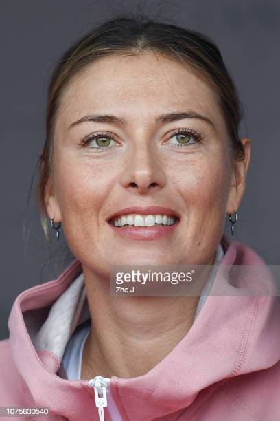 Maria Sharapova of Russia attends autograph session during 2019 WTA Shenzhen Open at Shenzhen Longgang Sports Center on December 29 2018 in Shenzhen...