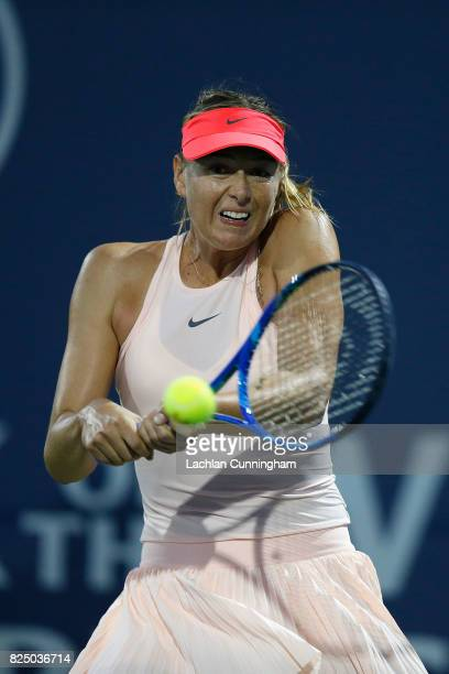 Maria Sharapova of Russia competes against Jennifer Brady of the United States during day 1 of the Bank of the West Classic at Stanford University...