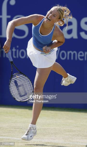 Maria Sharapova of Russia in action against Jamea Jackson of the USA in the semi final of the DFS classic in Edgbaston on June 17 2006 in Birmingham...