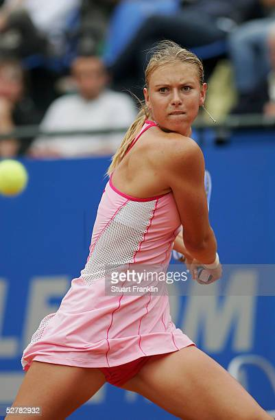 Maria Sharapova of Russia in action during her match against Anabel Medina Garrigues of Spain during the second day of The Telecom Italia Masters...