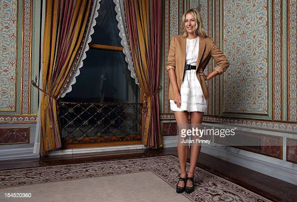 Maria Sharapova of Russia poses for a portrait during previews for the TEB BNP Paribas WTA Championships Istanbul on October 21 2012 in Istanbul...