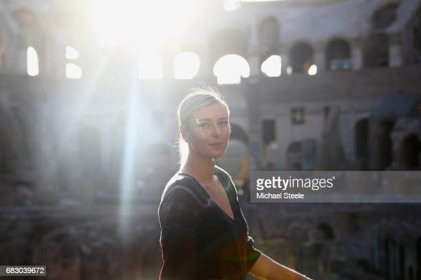 Maria Sharapova of Russia poses for a portrait inside the Rome Colosseum on Day Two of The Internazionali BNL d'Italia 2017 at the Foro Italico on...