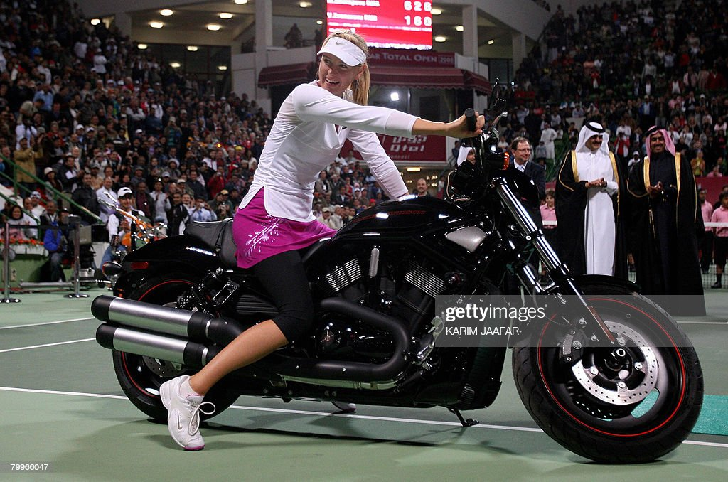 Maria Sharapova of Russia poses on a new : News Photo