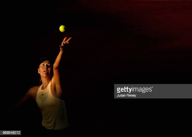 Maria Sharapova of Russia serves during the ladies singles match against Daria Gavrilova of Australia during day five of the Internazionali BNL...