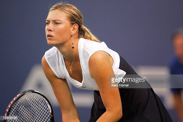 Maria Sharapova of Russia waits for the ball during her third round match against Tamarine Tanasugarn of Thailand at the La Costa Resort and Spa...