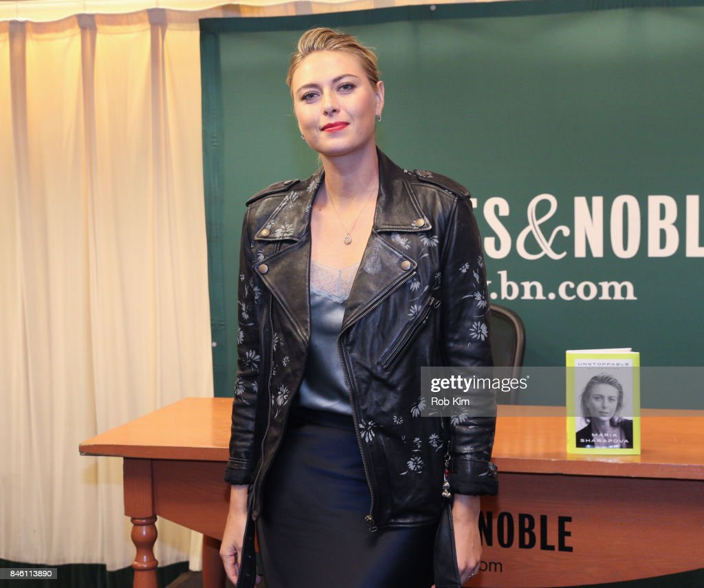 Maria Sharapova signs copies of her new book, 'Unstoppable: My Life So Far' at Barnes & Noble, 5th Avenue on September 12, 2017 in New York City.