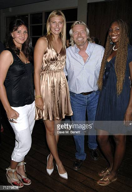 Maria Sharapova , Sir Richard Branson, Venus Williams and guest attend the Sony Ericsson WTA Tour's pre-Wimbledon party hosted by Sir Richard Branson...