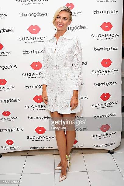 Maria Sharapova unveils the new Sugarpova Pop-Up Shop at Bloomingdale's Flagship on August 25, 2015 in New York City.