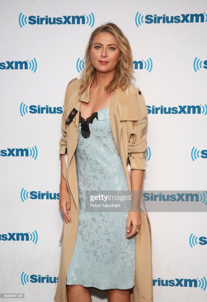 Maria Sharapova visits at SiriusXM Studios on September 13, 2017 in New York City.