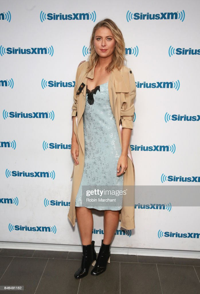 Maria Sharapova visits at SiriusXM Studios on September 13, 2017 in New York City.