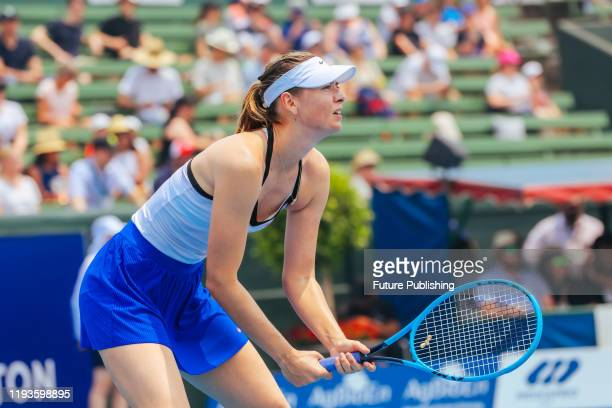 Maria Sharapova vs Laura Siegemund in the AgBioEn Kooyong Classic on Day 1 in Melbourne Australia- PHOTOGRAPH BY Chris Putnam / Barcroft Media