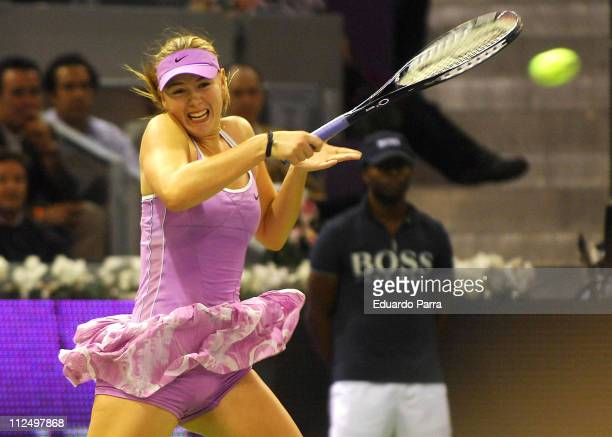 Maria Sharapova wins again in her second match at the Madrid Sony Ericsson Masters Series on November 8 2006