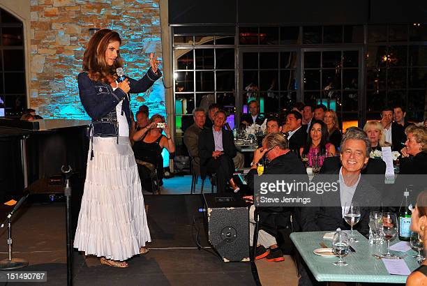 Maria Shriver addresses the audience at the reception celebrating the Best Buddies Challenge Hearst Castle at the Tehama Golf Club on September 7...
