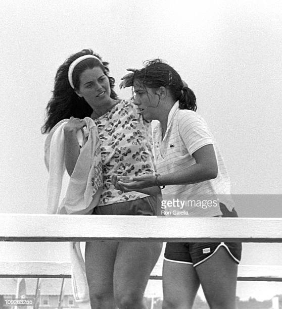 Maria Shriver and Amanda Kennedy Smith sighted on August 31 1980 in Hyannis Massachusetts