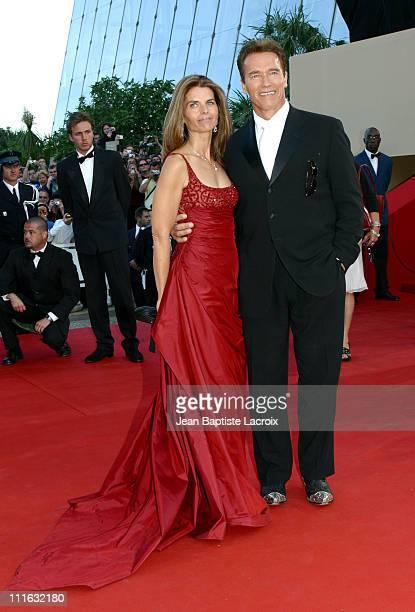 "Maria Shriver and Arnold Schwarzenegger during 2003 Cannes Film Festival - ""Les Egares"" Premiere at Palais Des Festival in Cannes, France."
