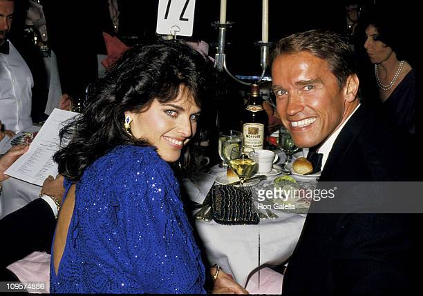 Maria Shriver and Arnold Schwarzenegger during Simon Wiesenthal Center Annual Humanitarian Awards Dinner Honoring Anatoly Scharansky at Bonaventure...