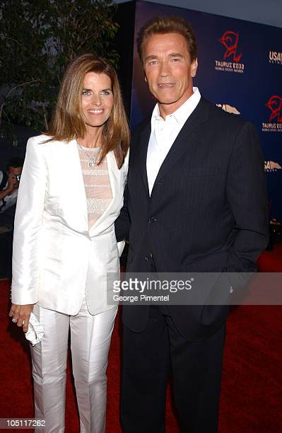 Maria Shriver and Arnold Schwarzenegger during The 3rd Annual World Stunt Awards - Arrivals at Paramount Studios in Los Angeles, California, United...