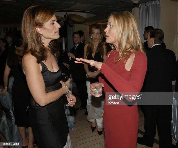 Maria Shriver and Bo Derek during The 60th Annual Golden Globe Awards HBO After Party at The Beverly Hilton Hotel in Beverly Hills California United...