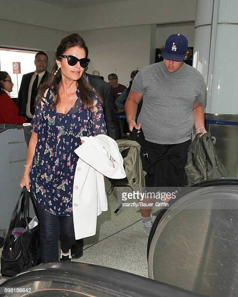 Maria Shriver and Christopher Schwarzenegger are seen at LAX on August 31, 2016 in Los Angeles, California.