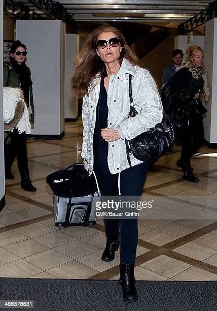 Maria Shriver and her daughter Katherine Schwarzenegger are seen at Los Angeles International Airport on March 11 2013 in Los Angeles California