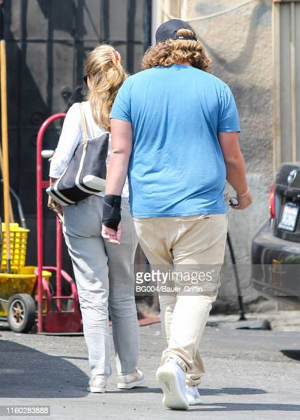 Maria Shriver and her son Christopher Schwarzenegger are seen on August 07 2019 in Los Angeles California