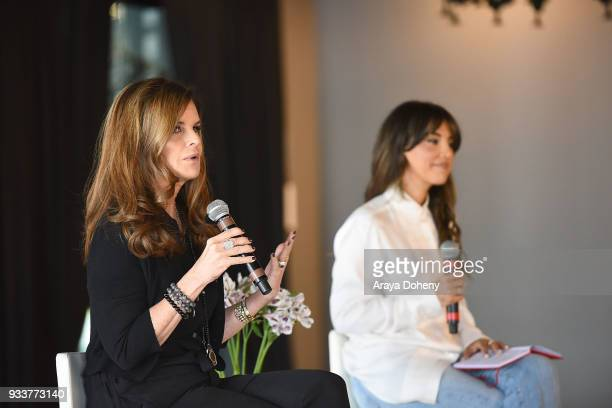 Maria Shriver and Liz Hernandez attend the Liz Hernandez Wordaful Live X Maria Shriver event on March 18 2018 in Glendale California