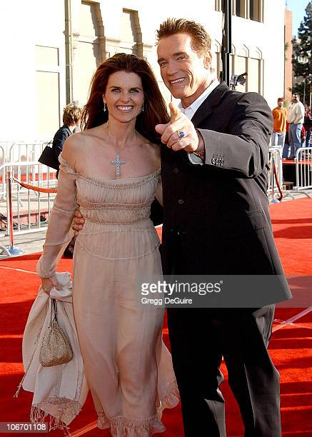 """Maria Shriver & Arnold Schwarzenegger during 20th Anniversary Premiere of Steven Spielberg's """"E.T.: The Extra-Terrestrial"""" - Red Carpet at Shrine..."""
