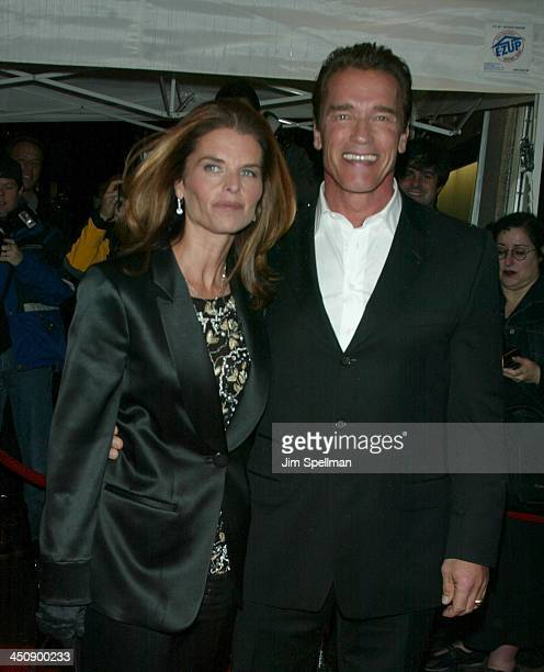 Maria Shriver & Arnold Schwarzenegger during Pumping Iron The 25th Anniversary New York Premiere at Loews Tower East in New York City, New York,...