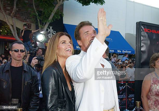 """Maria Shriver & Arnold Schwarzenegger during """"Terminator 3 - Rise of the Machines"""" World Premiere at Mann Bruin in Los Angeles, California, United..."""