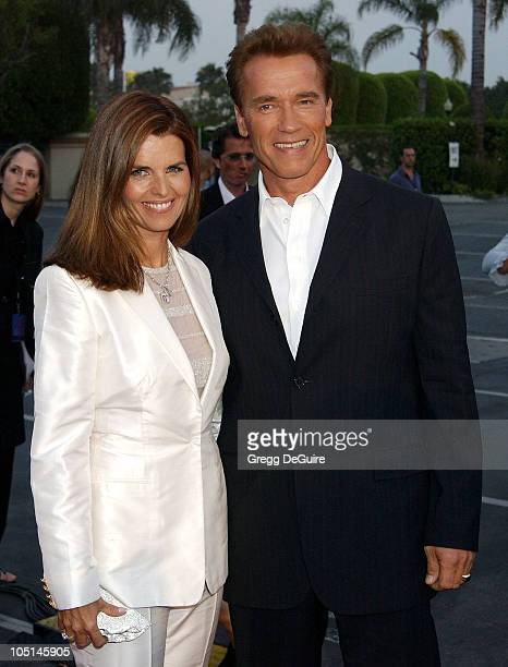 Maria Shriver & Arnold Schwarzenegger during The 3rd Annual World Stunt Awards - Arrivals at Paramount Studios in Los Angeles, California, United...