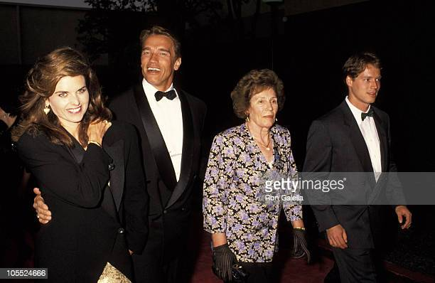 Maria Shriver Arnold Schwarzenegger mother Aurelia Jadrny and nephew Patrick