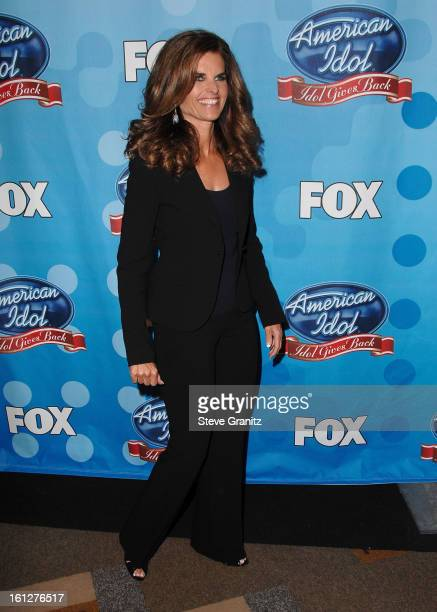 Maria Shriver arrives at the taping of Idol Gives Back held at the Kodak Theatre on April 6 2008 in Hollywood California