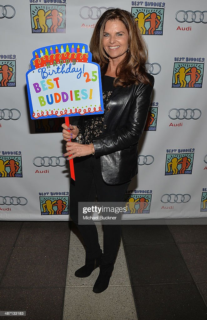 Maria Shriver attends Audi Best Buddies' Bowling For Buddies at Lucky Strike Lanes at L.A. Live on April 27, 2014 in Los Angeles, California.