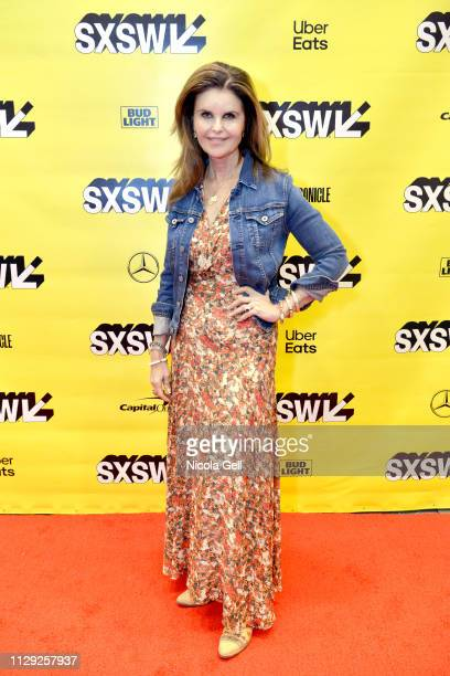 Maria Shriver attends Featured Session Maria Shriver Alexandra Socha and Farida Sohrabji with Ashley C Ford during 2019 SXSW Conference and Festivals...