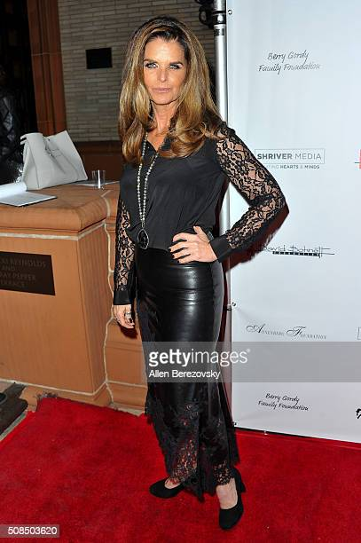 Maria Shriver attends the US Premiere of Debbie Allen's 'Freeze Frame' at The Wallis Annenberg Center for the Performing Arts on February 4 2016 in...