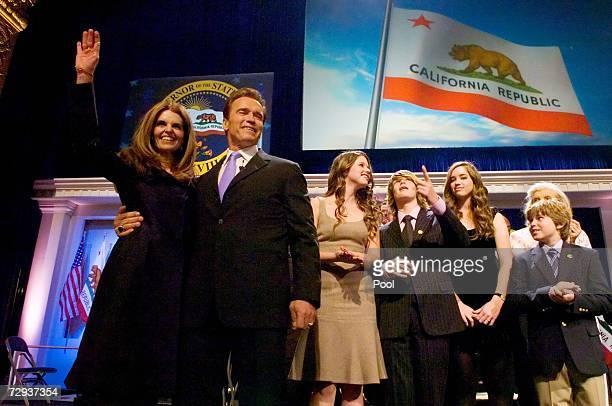 Maria Shriver California governor Arnold Schwarzenegger Katherine Schwarzenegger Patrick Schwarzenegger Christina Schwarzenegger and Christopher...
