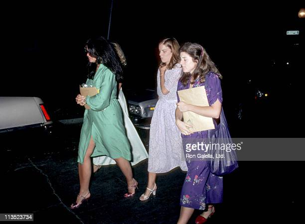 Maria Shriver Caroline Kennedy and guest during Rehearsal Dinner for Courtney Kennedy and Jeff Ruhe's Wedding at Georgetown Club in Georgetown...