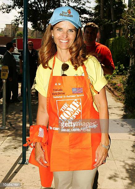 Maria Shriver during Maria Shriver and The Home Depot CEO Bob Nardelli Help KickOff Build Day at Ocean Charter School in Culver City California...