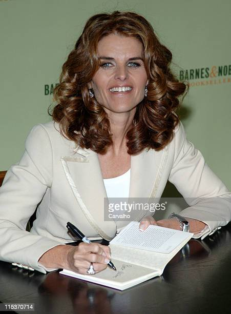 Maria Shriver during Maria Shriver Signs Her Book 'And One More Thing Before You Go' at Barnes Noble in Rockefeller Center at Barnes Noble...