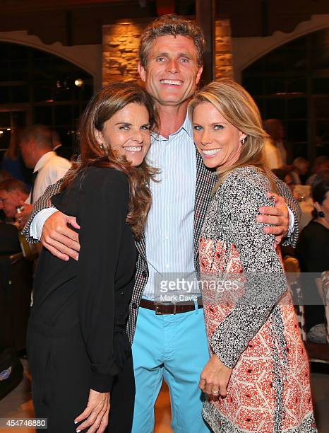 Maria Shriver founder and Chairman of Best Buddies International Anthony Shriver and actress Cheryl Hines attend at a VIP Reception hosted by Maria...